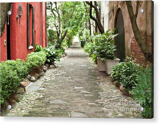 Philadelphia Alley Charleston Pathway Acrylic Print
