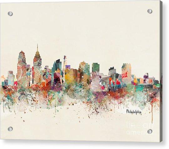 Philadelphia City Skyline Acrylic Print