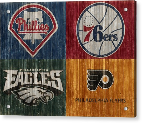 Philadelphia Sports Teams Acrylic Print