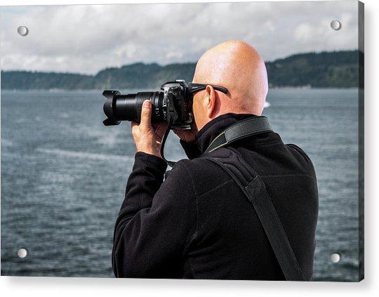 Photographer At Work Acrylic Print