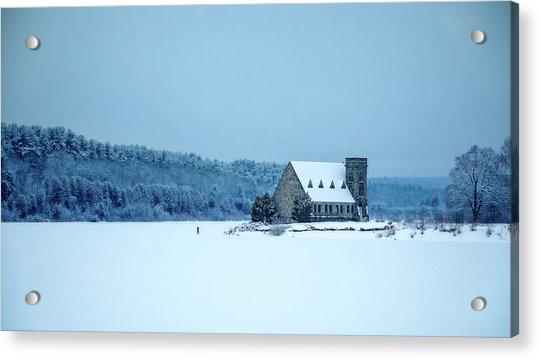 Photographer On Thin Ice Acrylic Print