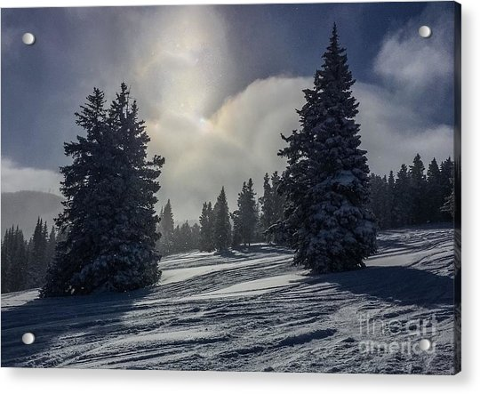 Peaceful Morning After The Stormvery Chilly Morning Acrylic Print