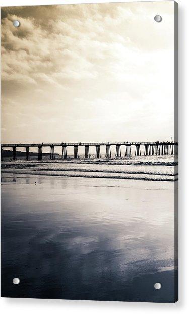 Pier On Duotone Acrylic Print