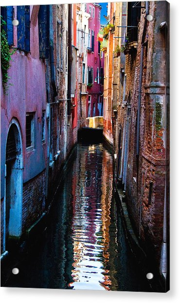 Pink Canal Acrylic Print