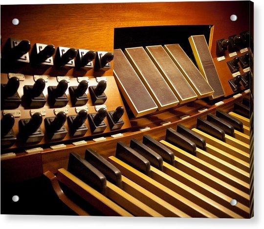 Pipe Organ Pedals Acrylic Print