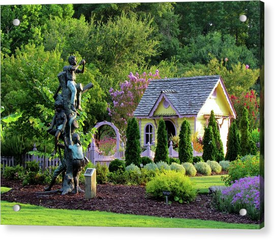 Acrylic Print featuring the photograph Playhouse In The Garden by Cynthia Guinn