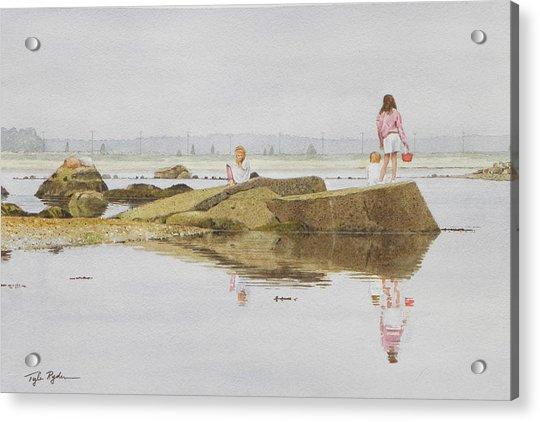 On Crab Rock Acrylic Print