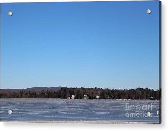 Poconos, The Lake In January Acrylic Print