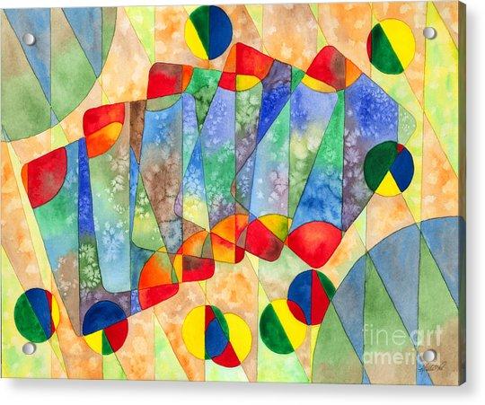 Poker Abstract Watercolor Acrylic Print