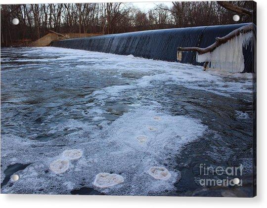 Pompton Spillway In Winter 2 Acrylic Print
