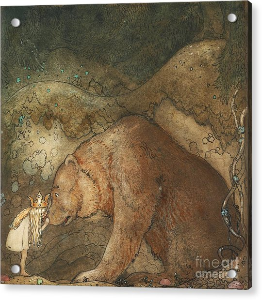 Poor Little Bear Acrylic Print