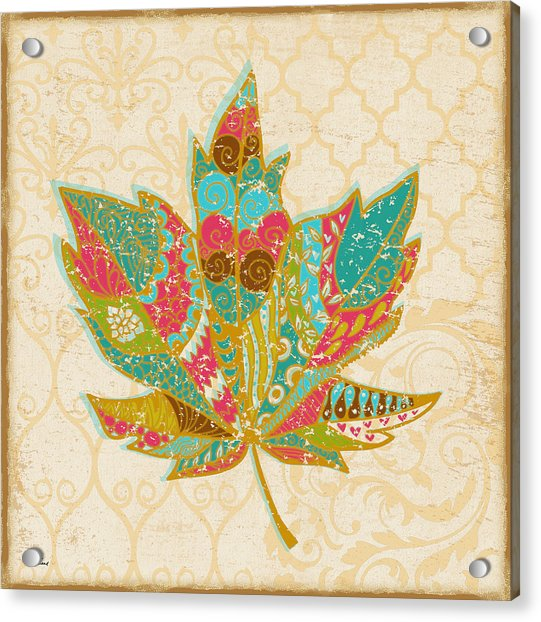 Pop Leaf Acrylic Print