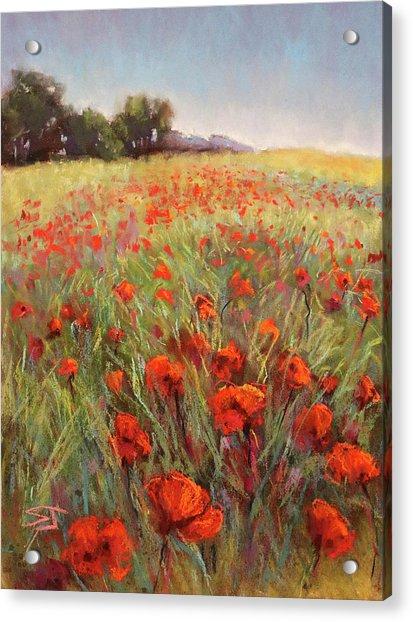 Poppy Dance Acrylic Print