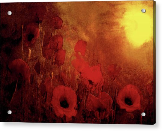 Acrylic Print featuring the painting Poppy Heaven by Valerie Anne Kelly