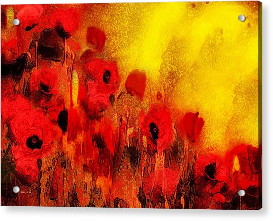 Acrylic Print featuring the painting Poppy Reverie by Valerie Anne Kelly