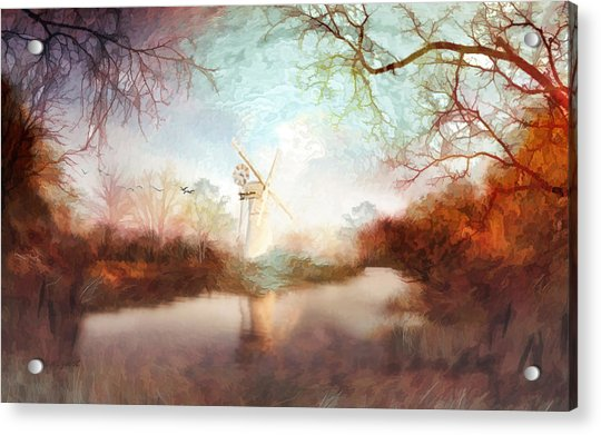 Acrylic Print featuring the painting Porcelain Skies by Valerie Anne Kelly