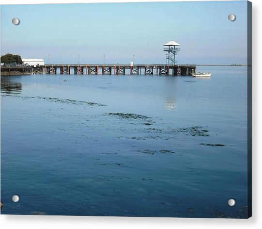 Port Angeles Pier Acrylic Print