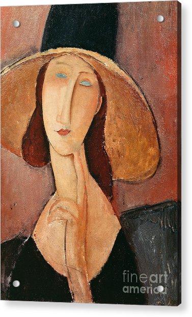 Portrait Of Jeanne Hebuterne In A Large Hat Acrylic Print