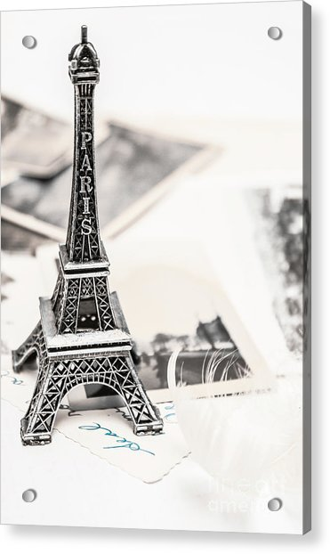 Postcards And Letters From Paris Acrylic Print