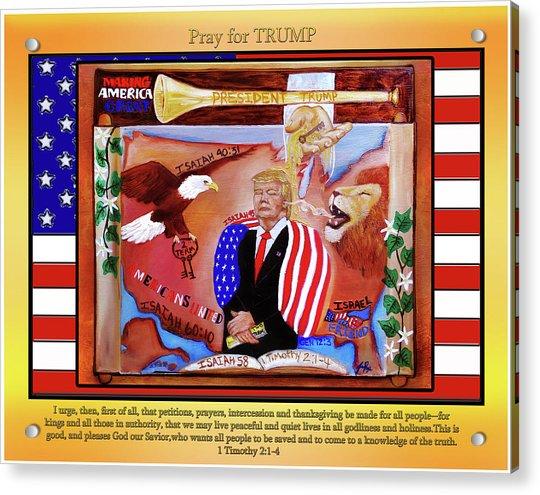 Pray For President Trump Acrylic Print