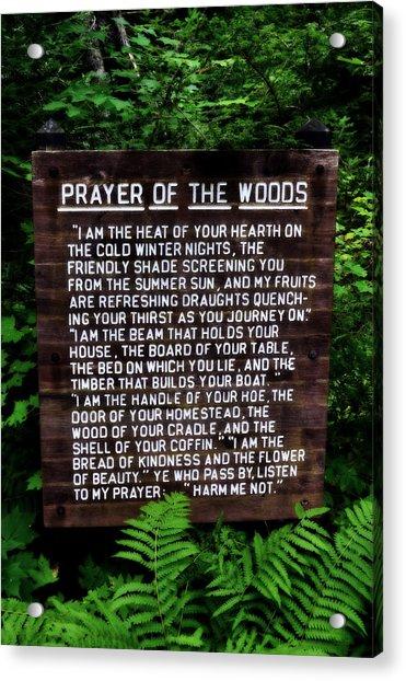 Prayer Of The Woods Acrylic Print