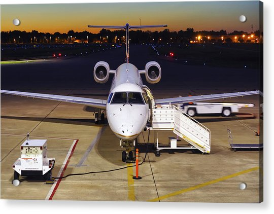 Acrylic Print featuring the photograph Preparing For Departure by Jason Politte