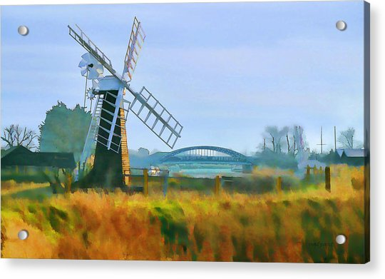 Acrylic Print featuring the photograph Priory Windmill by Valerie Anne Kelly
