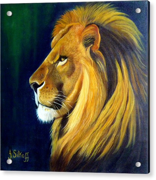 Profile Of The King Acrylic Print by Janet Silkoff