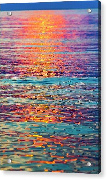 Psychedelic Sunset Acrylic Print