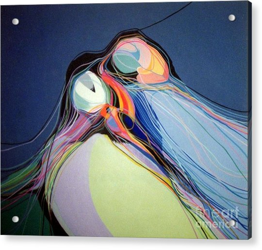 Puffins Acrylic Print