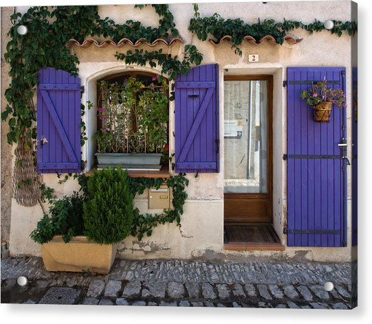 Purple Shutters Acrylic Print