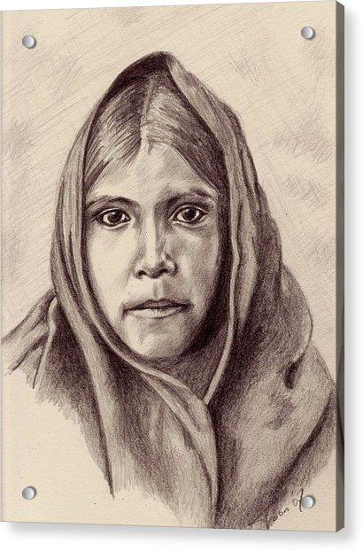 Quhatika Girl Acrylic Print