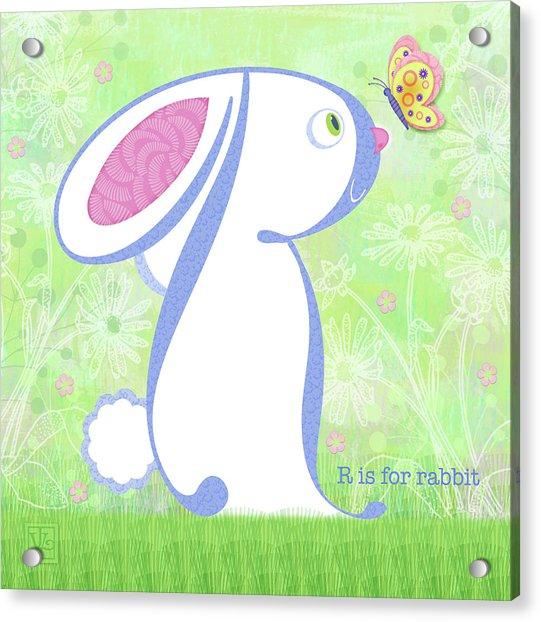 R Is For Rabbit Acrylic Print