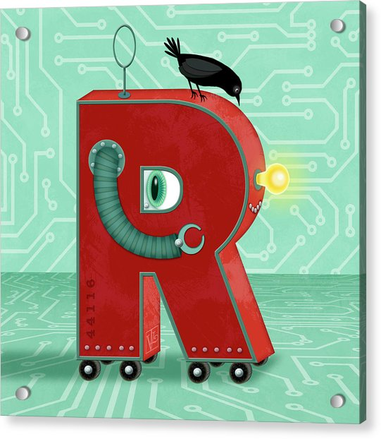 R Is For Robot Acrylic Print