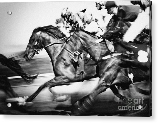 Racing Horses Acrylic Print