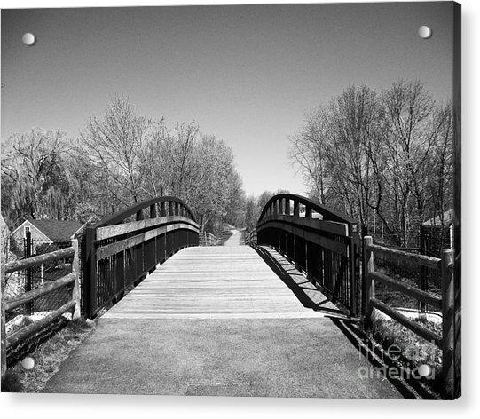 Rail Trail Bridge, Newburyport, Massachusetts Acrylic Print
