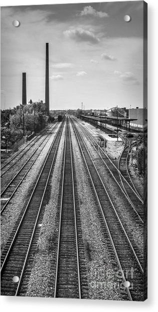 Rails Through Birmingham Acrylic Print