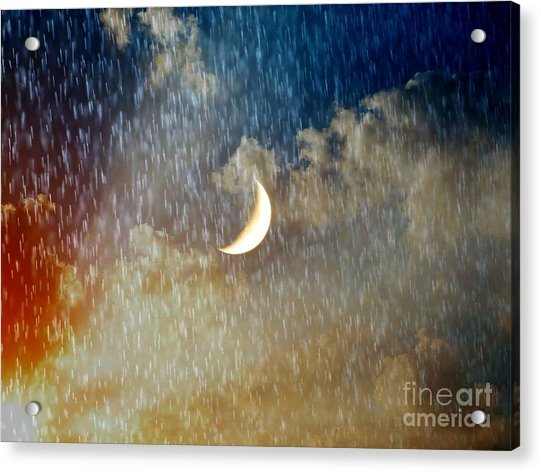 Rain Fall Acrylic Print