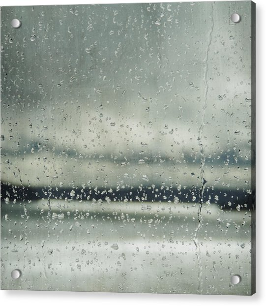 Acrylic Print featuring the photograph Rain Layers by Sally Banfill