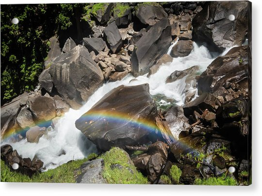 Rainbow At Vernal Falls- Acrylic Print