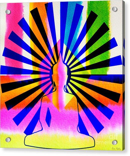 Rainbow Buddha Acrylic Print