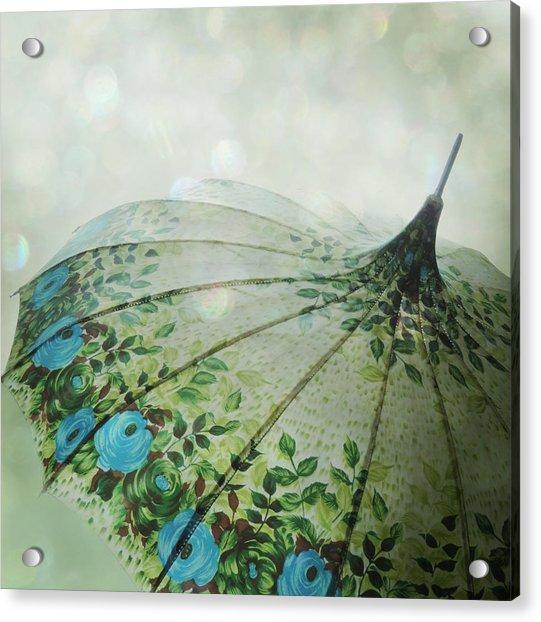Acrylic Print featuring the photograph Raining Bokeh by Sally Banfill