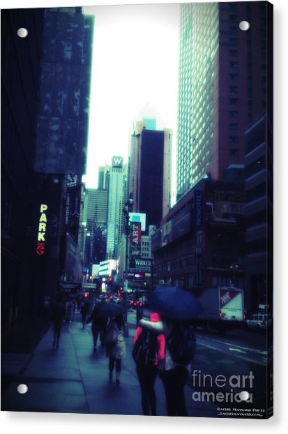 Acrylic Print featuring the photograph Rainy Day New York City by Rachel Maynard