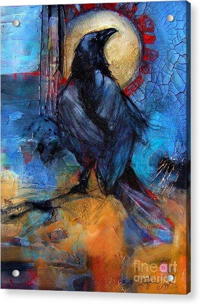 Raven Blue Acrylic Print