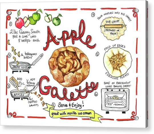 Recipe- Apple Galette Acrylic Print