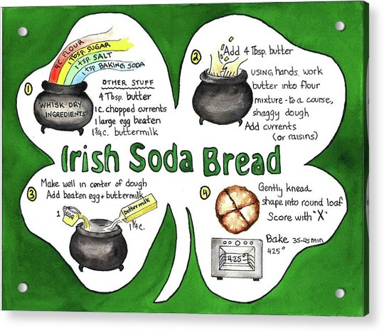 Recipe - Irish Soda Bread Acrylic Print