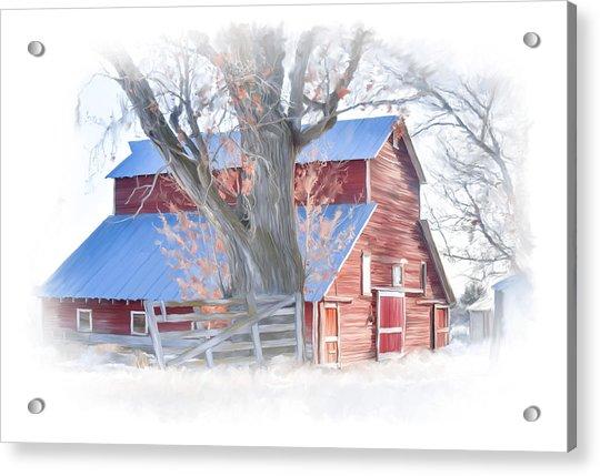Red Barn On York Drive Acrylic Print