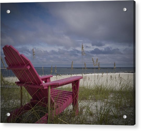 Red Chair View Acrylic Print