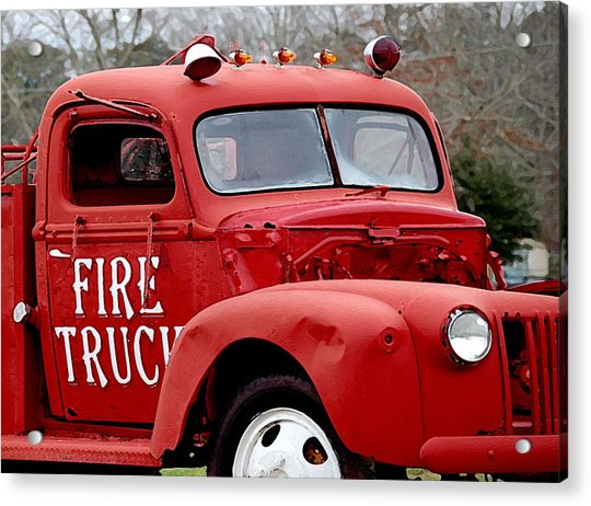 Red Fire Truck Acrylic Print