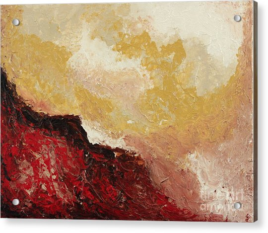 Red Waves Acrylic Print